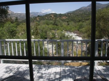 Three Rivers house rental - View from dining room window