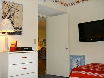 BR #2 Sleeps 2 & all rooms have large screen, flat panel TVs as shown
