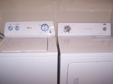washer and dryer added 2012 in the upstairs closet.