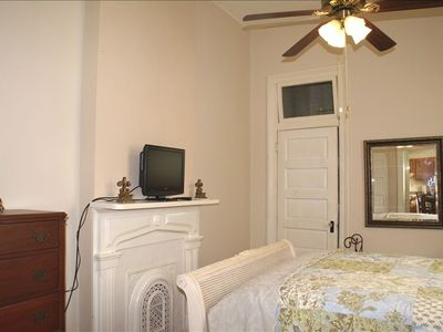 House Bdrm #2 ~ You'll love the hi-ceilings, transoms, mantels & 12' baseboards
