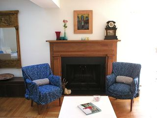 Sag Harbor house photo - The fireplace by day