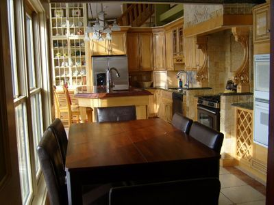 Mount Snow house rental - Kitchen Nook with view of Mt Snow