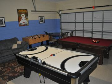 Game Room - Air Hockey, Pool Table, Foosball, and Wii.