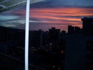 Waikiki condo photo - Sunrise from bedroom window