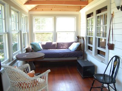 Large Porch overlooking Jemima Pond