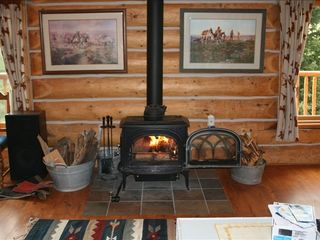 Fairplay cabin photo - Warm up by the fire with some hot cocoa. We also have a fire pit.