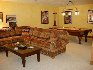 Deer Valley townhome photo - Family Room 2, w/ Pool Table, Game Table & Flat Screen TV