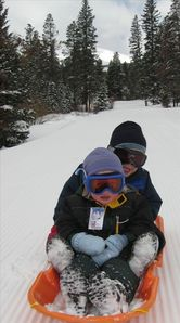 Great sledding down to town or use the hill just outside the condo