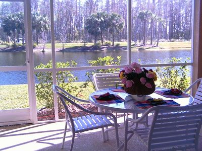 Enjoy sunrise breakfast and a beautiful view on the screened-in back lanai!