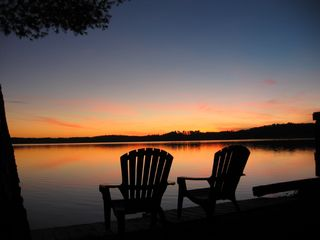 Lake Winnisquam cottage photo - Sunset out front