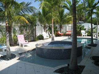 Hutchinson Island house photo - Pool with Hot tub