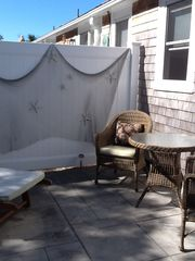 Dennisport studio photo - Private patio for dining or lounging