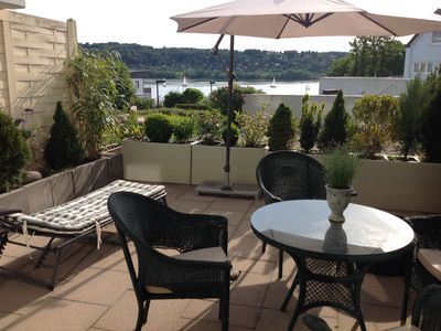 modern, new lake view apartment with terraced character, max 4 persons