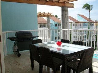 Punta Cana condo photo - lg. Balcony 1 overlooking pool - with BBQ