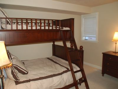 Old Town house rental - Downstairs bedroom 2, with twin over full bunk, plus twin trundle.