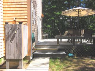 Wellfleet house photo - Take a refreshing outdoor shower ...(PRIVATE HOT WATER SHOWER)