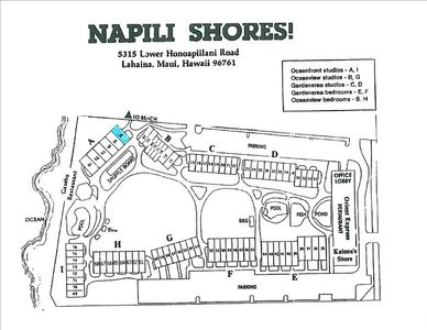 Location of the condo at the resort.