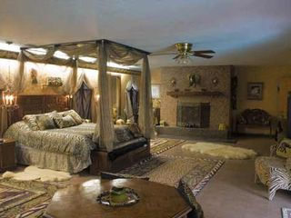 McAllen house photo - Exotic master suite with fireplace & wetbar. Huge bath with whirlpool tub+
