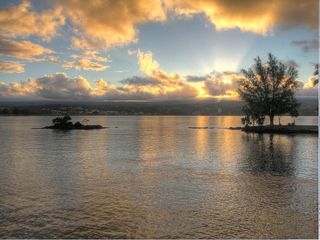 Hilo bungalow photo - Experience the beauty from Coconut Island ... sunset over Hilo Bay