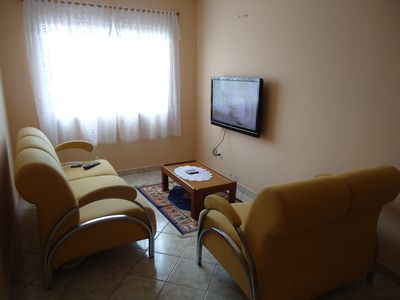 One bedroom apartment, super comfortable, with seating for 6 people