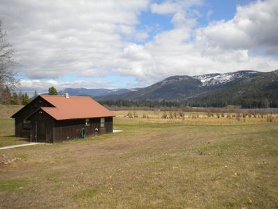 2 bedroom cabin situated on 20 park-like acres.