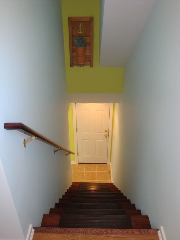 Staircase up to studio, has a Private entry