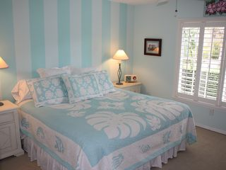 Old Naples house photo - Bedroom 2 suite is tastefully decorated with a new king bed and quality linens.