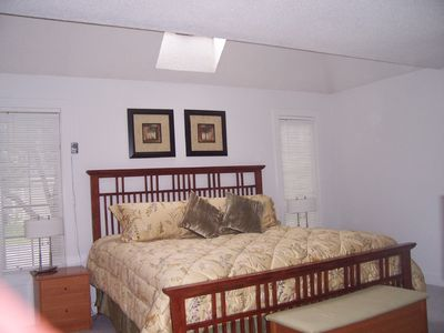 1st floor Master Bedroom With Skylight, private master bath.