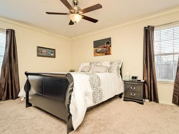 Fayetteville condo rental - Master Bed with queen size bed