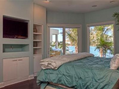 Master bedroom with beautiful view down the pass.