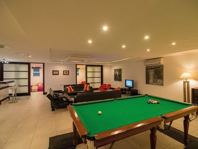 Marsaskala villa rental - games room area