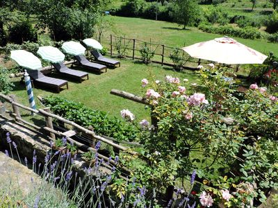 pretty house with two terraces, garden, surrounded by greenery, near Levanto