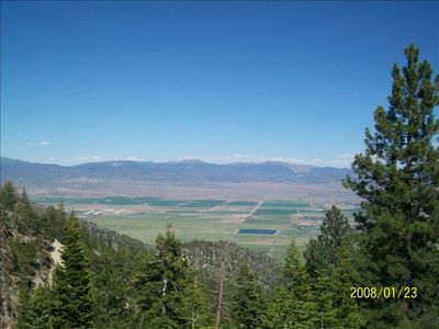 View of Carson Valley from back deck.