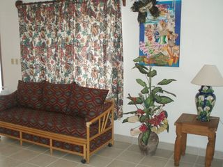 Cozumel apartment photo - This second sofa is a day bed with a trundle