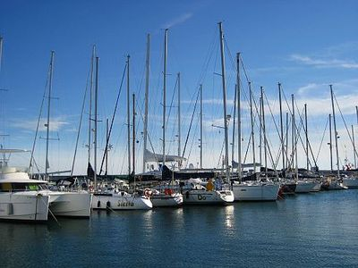 The yatching marina in Valencia