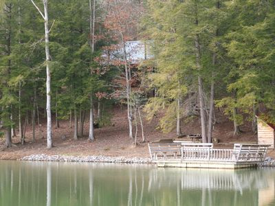 Muddy Pond cabin rental - cozy Cumberland cabin in hemlocks from private lake