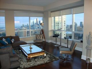 Toronto condo photo - Oversized Living area wrapped with south/west view