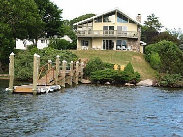 Narragansett house rental - Direct Water Front on 6.5 mile long Lake River. House includes 5 Kayaks, 2 canoe
