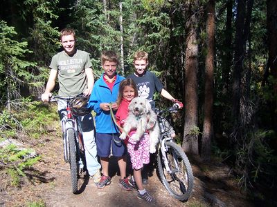 Mountain biking: fun for the whole family. Easy trails to challenging downhill