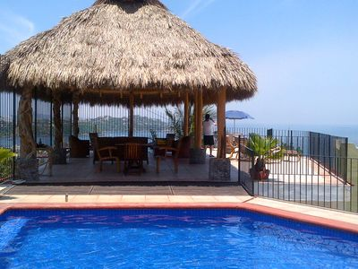 Pool, Palapa & Terrace with amazing ocean view