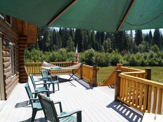McCloud chateau / country house photo - Enjoy our spacious deck...