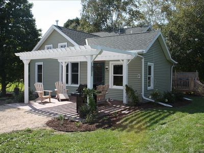 Green Lake cottage rental - Back of farm house