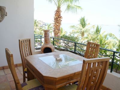Outdoor dining at its best - Private, Ocean Views, and a nice Breeze!