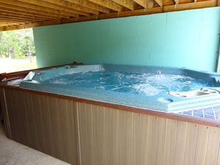 Gulfport house photo - SUPER Large Hot Tub! 14' x 8' Perfect for a crowd. $100 per stay to turn on