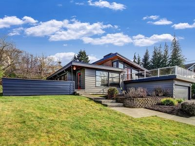 The Lucian ~ Browns Point Spectacular Water View Mid Century Modern Home.
