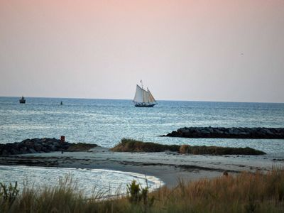 Sailing Off the Private Beach on the Chesapeake Bay