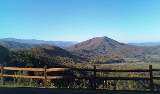 Wears Valley cabin photo - View from cabin into Great Smoky Mountain National Park