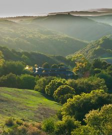 Cambria estate rental - Red Mountain Retreat, looking to ocean