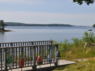 Westport Island cottage rental - View south