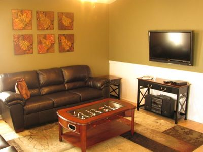 "Sitting Room w/ 42"" Flatscreen TV and 2 Full Sofas"